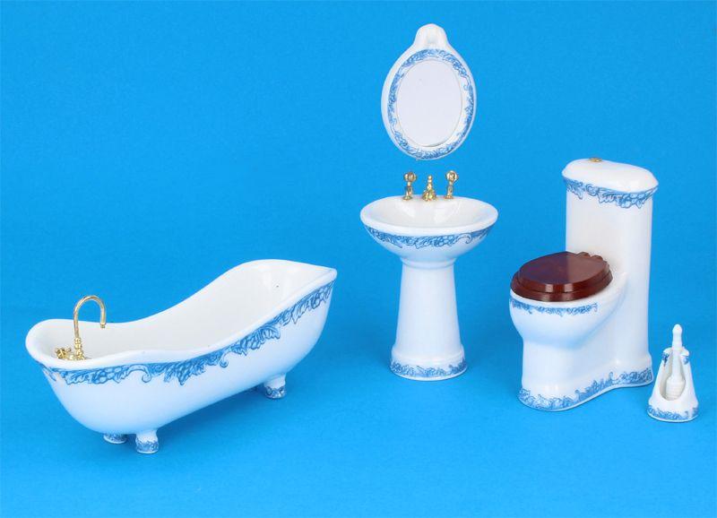Ch36130 - Toilette décorée 5 pièces