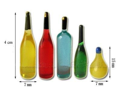 Tc0589 - Cinque bottiglie piccole