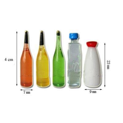 Tc0590 - Juego cinco botellas varias