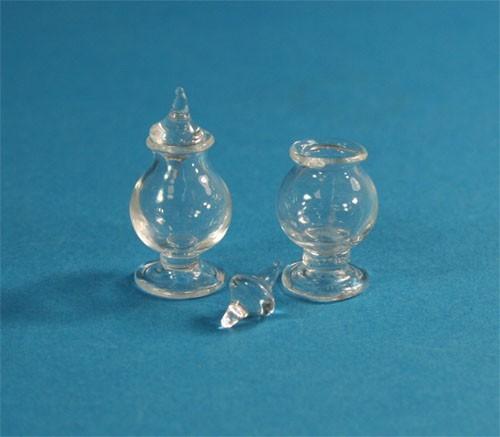 Tc1695 - Dos bomboneras de cristal