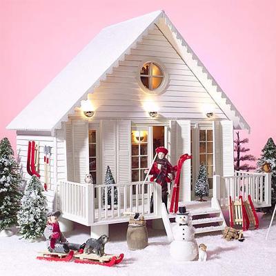 Case delle bambole sa1800 casa ritiro in kit for 1800 piani di casa sf