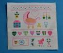 Tc1776 - Ricamo con decorazione per neonata