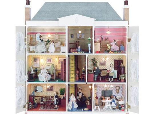 Case delle bambole sa0709 casa montgomery in kit for Aprire piani casa seminterrato