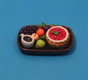 Sm3101 - Bandeja de frutas y pastel n1