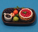 Sm3101 - Tray with fruit and cake n1