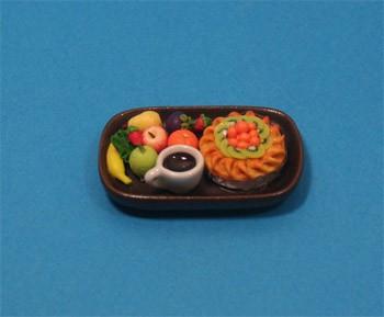Sm3102 - Bandeja de frutas y pastel n2