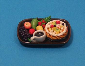Sm3105 - Bandeja de frutas y pastel