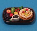 Sm3105 - Tray of fruit and cake