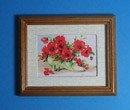 Tc1835 - Cuadro flores rojas