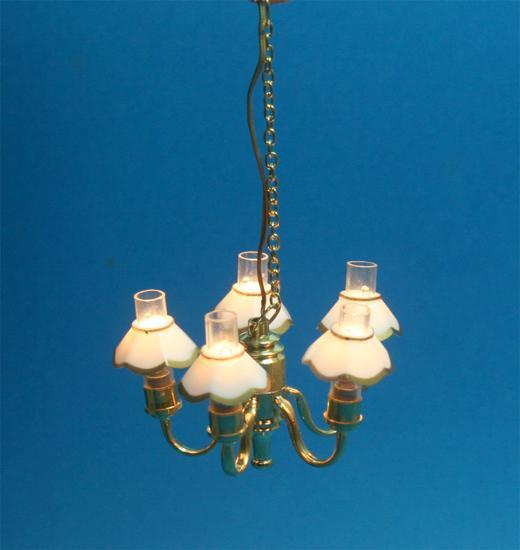 Sl3348 - Lampada 5 paralumi