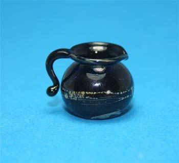 Tc0367 - Jarra decoración negra