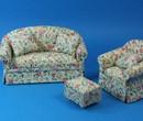 Cj0030 - Conjunto sofa flores