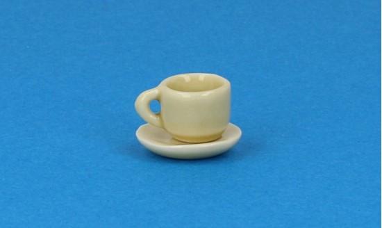 Cw0104 - Taza y plato verde pequena