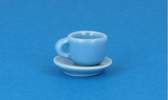 Cw0107 - Taza y plato celeste