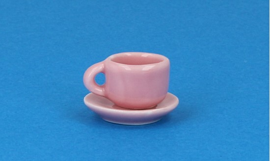 Cw0108 - Pink cup and plate