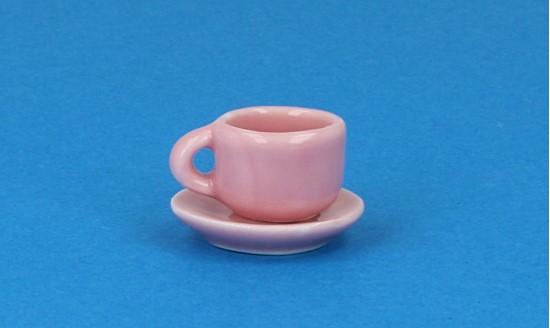 Cw0108 - Taza y plato rosa