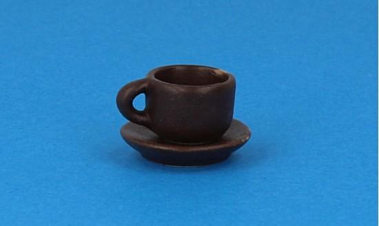 Cw0110 - Taza y plato marrón