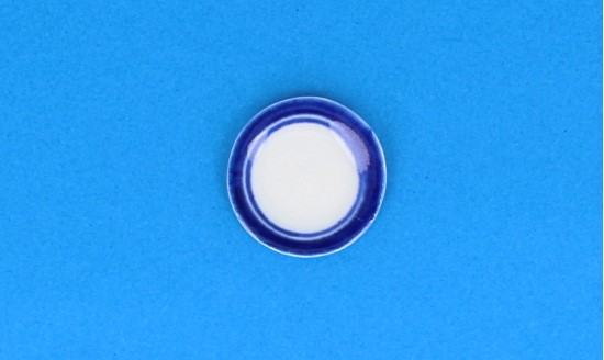 Cw0401 - Plate with blue edges