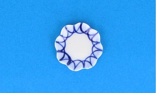 Cw0408 - Piatto decorato di azzurro