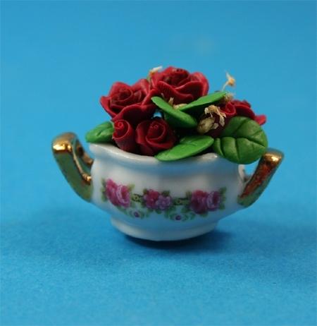 Re13985 - Florero con rosas