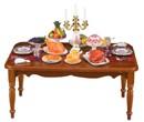 Re18340 - Table décorée
