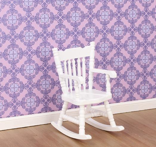Case delle bambole mb0579 sedia a dondolo bianca for Sedia a dondolo nursery