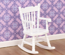 Mb0579 - White rocking chair