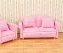 Mb0609 - Conjunto sofa cuadros rosas