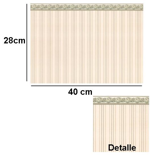 Br1011 - Papier frontière brun