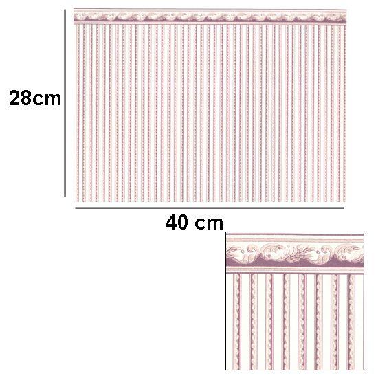 Br1012 - Papier à frise rose