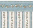 Br1014 - Blue Border with Flowers