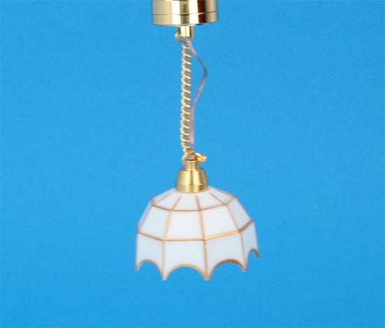 Sl4013 - Lámpara tiffany blanca de techo Leds