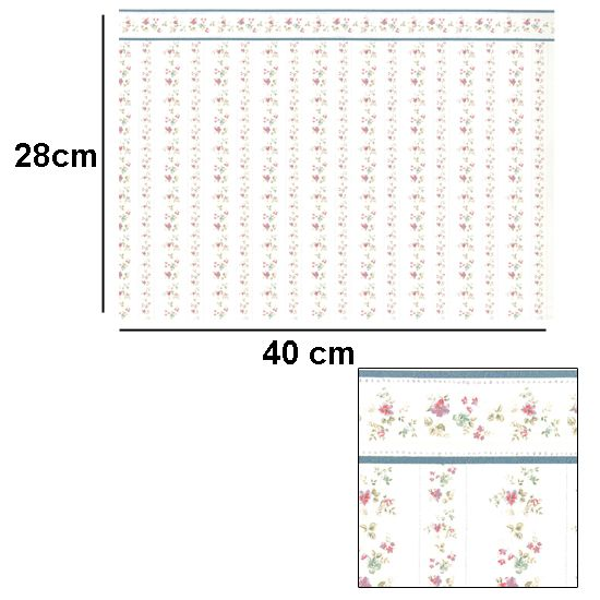 Br1022 - Carta da parati con fiori