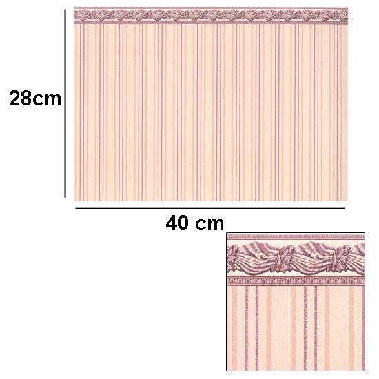 Br1023 - Papel cenefa rosa