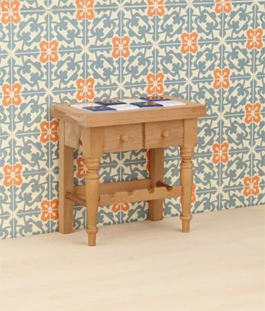 Case delle bambole re17642 tavolo con piastrelle - Tavolo con piastrelle ...