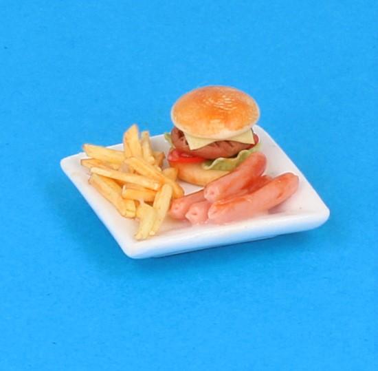 Sm3076 - Assiette de nourriture