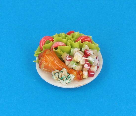 Tc0541 - Piatto con cibo