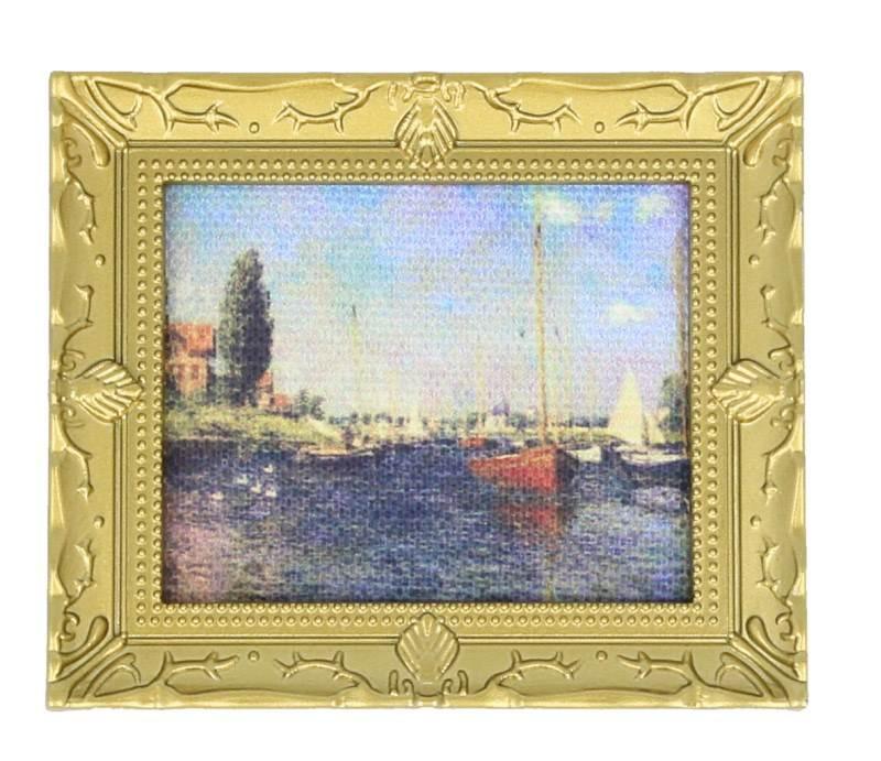 Tc0779 - Cuadro barcos Monet