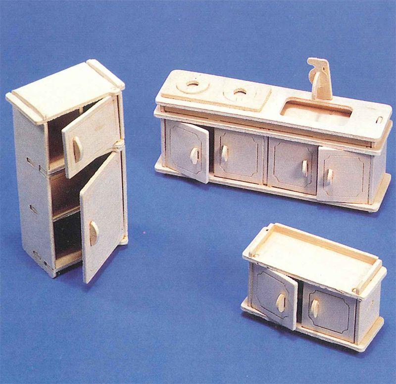 Muebles en miniatura para montar | Tienda de Casitas