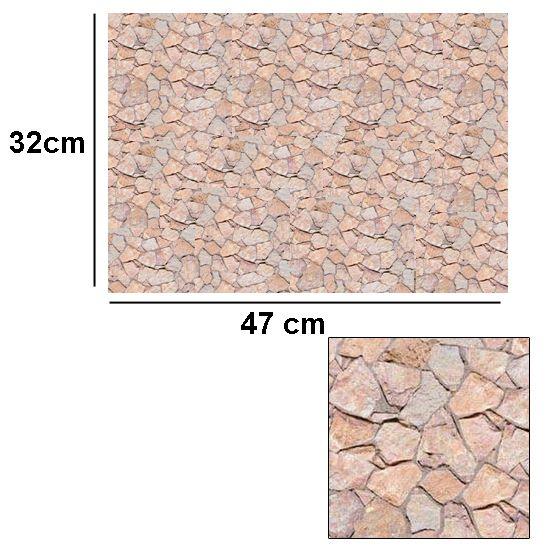 Tienda de casitas papeles para fachadas de casas de mu ecas - Papel imitacion piedra ...