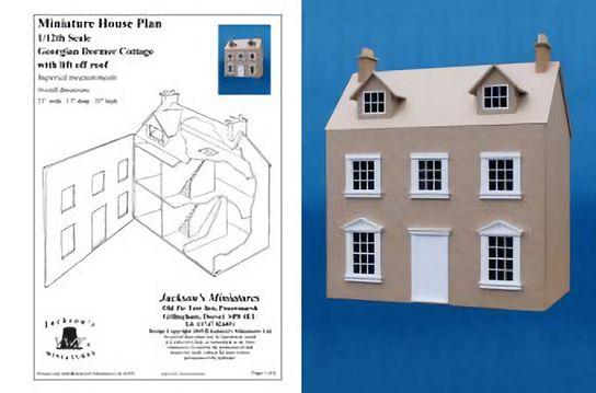 Case delle bambole jh1002 piani casa georgiana for Piani di casa porte cochere