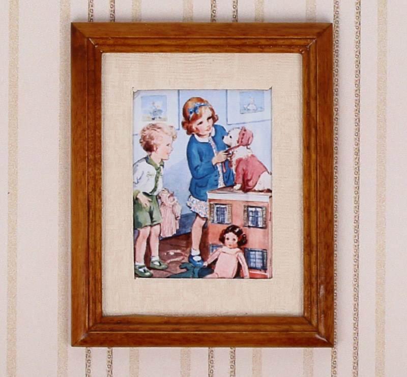 Tc2299 - Cadre motif enfants qui jouent