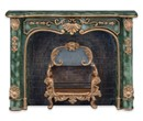 Re18590 - Green marble fireplace