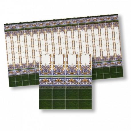 Wm34302 - Carrelage en papier décoré