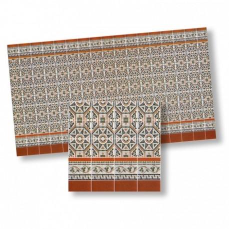 Wm34305 - Carrelages en papier décoré