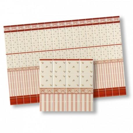 Wm34325 - Carrelages en papier décoré