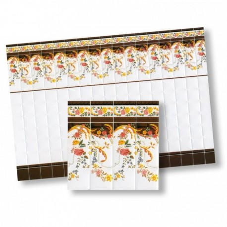Wm34327 - Papel azulejos decorados