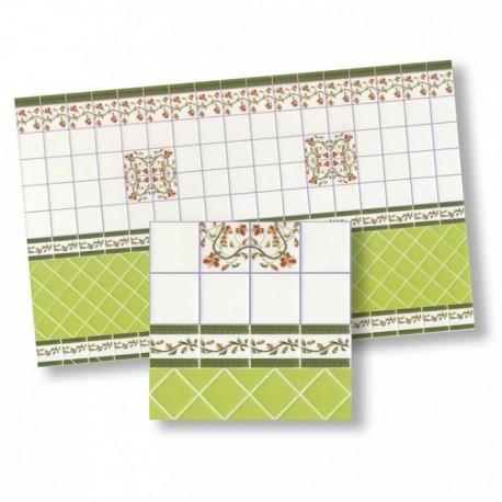 Wm34330 - Carta con piastrelle decorate