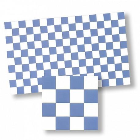 Wm34362 - Piastrelle a quadri blu