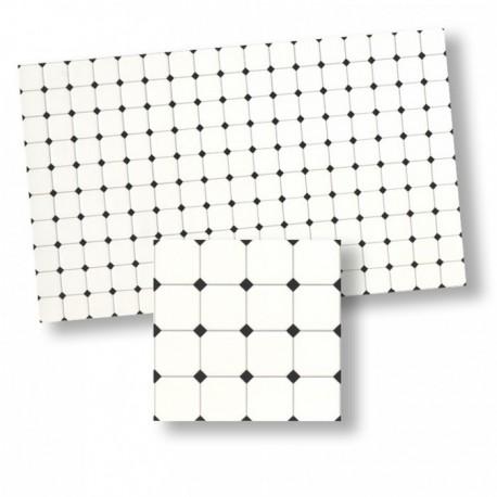 Wm34363 - Azulejos rombos negros